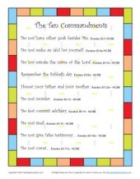 Ten Commandments for Kids Poster