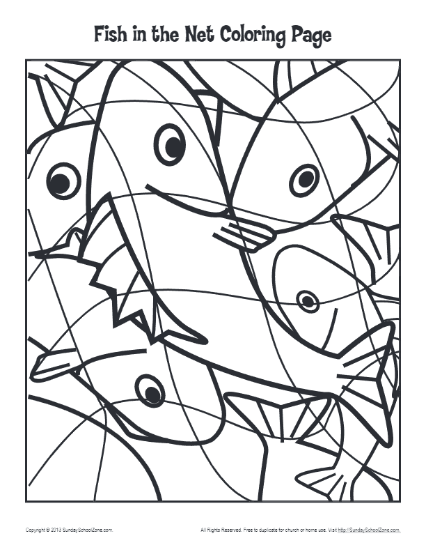 net coloring pages for kids - photo#12