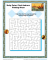 Help Peter Find Andrew - Sunday School Maze Activity