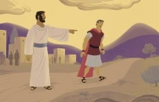 Bible Story Teaching Picture—Jesus Healed a Royal Official's Son