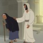 Bible Story Teaching Picture—Jesus Healed a Woman with a Crooked Back