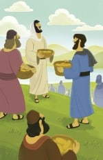 Bible Story Picture—Jesus Fed More than 5000 People