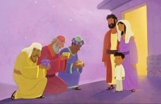 The Wise Men Worship Jesus—Bible Story Teaching Picture