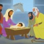 Shepherds Told About Jesus—Bible Story Teaching Picture