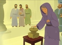 Bible Teaching Picture—Jesus Taught About Giving