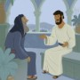 Jesus and Nicodemus—Bible Story Teaching Picture