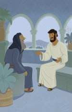 Jesus and Nicodemus—Bible Story Teaching Picture