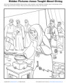 Sunday School Hidden Pictures Activity for Kids - Jesus Taught About Giving