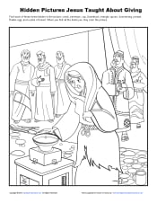 Sunday school hidden pictures activity for kids jesus taught about