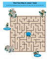Sunday School Maze Activity for Kids - Jesus is Alive!