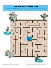 Find Your Way To Jesus Tomb Easter Sunday Maze