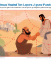 Sunday School Jigsaw Puzzle - Jesus Healed Ten Lepers