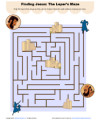 Children's Bible Maze Activity - Finding Jesus