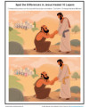Children's Bible Spot the Differences Activity - Jesus Healed 10 Lepers