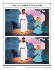 Jesus Is Alive Easter Spot The Differences Activity On