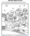 Wise Men Hidden Pictures Activity for Kids