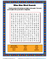 Wise Men Word Search Activity for Kids
