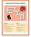 Children's Bible Activity Crossword Puzzle - Zacchaeus Met Jesus