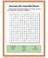 Children's Bible Word Search Activity - Zacchaeus Met Jesus