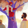 Zacchaeus Meets Jesus | Bible Story Teaching Picture