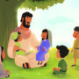 Jesus and the Children—Bible Story Teaching Picture