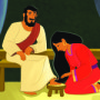 Mary's Devotion to Jesus—Bible Story Teaching Picture