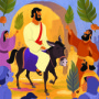Jesus' Triumphal Entry—Bible Story Teaching Picture