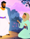 Mary and Jesus at the Empty Tomb—Jesus' Resurrection Teaching Picture