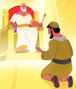 The Parable of the Forgiving King—Bible Story Teaching Picture