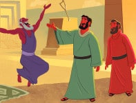 God Used Peter to Heal a Lame Man—Bible Story Teaching Picture