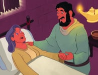 Dorcas Is Raised to Life—Bible Story Teaching Picture