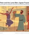 Children's Bible Jigsaw Puzzle Activity - Peter and the Lame Man