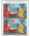 Bible Story Spot the Differences Activity for Kids - Shepherds Told of Jesus