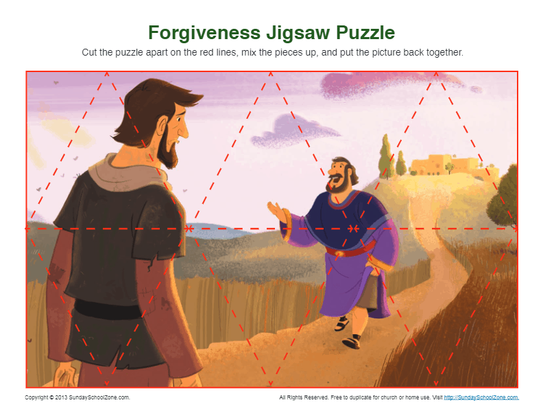 Fiveness Jigsaw Puzzle Bible Activities for Children
