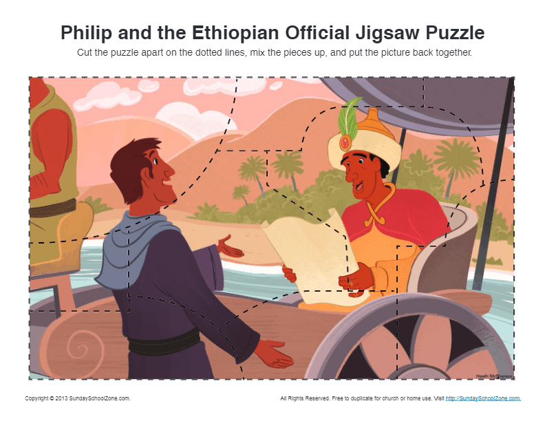 Philip And The Ethiopian Official Jigsaw Puzzle Bible
