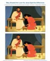 Children's Bible Story Spot the Differences Activity - Mary Shows Her Love for Jesus