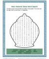 Mary Honored Jesus Word Search Activity for Kids