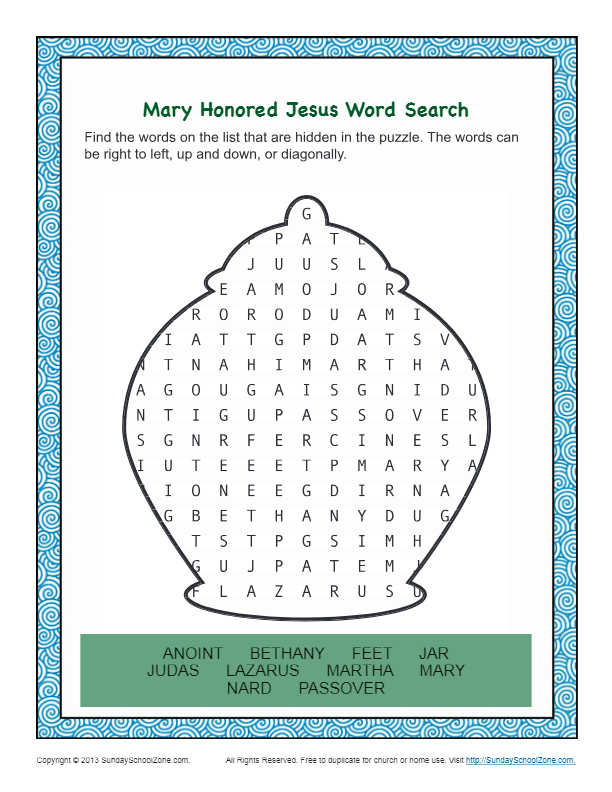 Mary Honored Jesus Bible Word