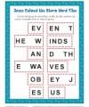 Children's Word Tile Activity for Sunday School - Jesus Calmed the Storm