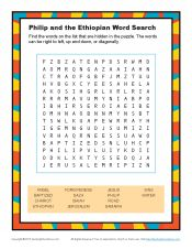 philip bible activity for kids word search. Black Bedroom Furniture Sets. Home Design Ideas