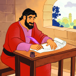 Peter Wrote Letters—Bible Story Teaching Picture