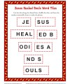 Printable Sunday School Word Tile Activity - Jesus Healed Souls
