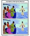 Jesus Walked on Water - Spot the Differences Children's Activity