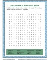 Children's Bible Story Word Search Activity - Jesus Walked on Water