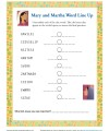 Bible Story Word Line Up Activity for Kids - Mary and Martha