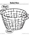 Paul's Escape Basket Maze Activity for Kids