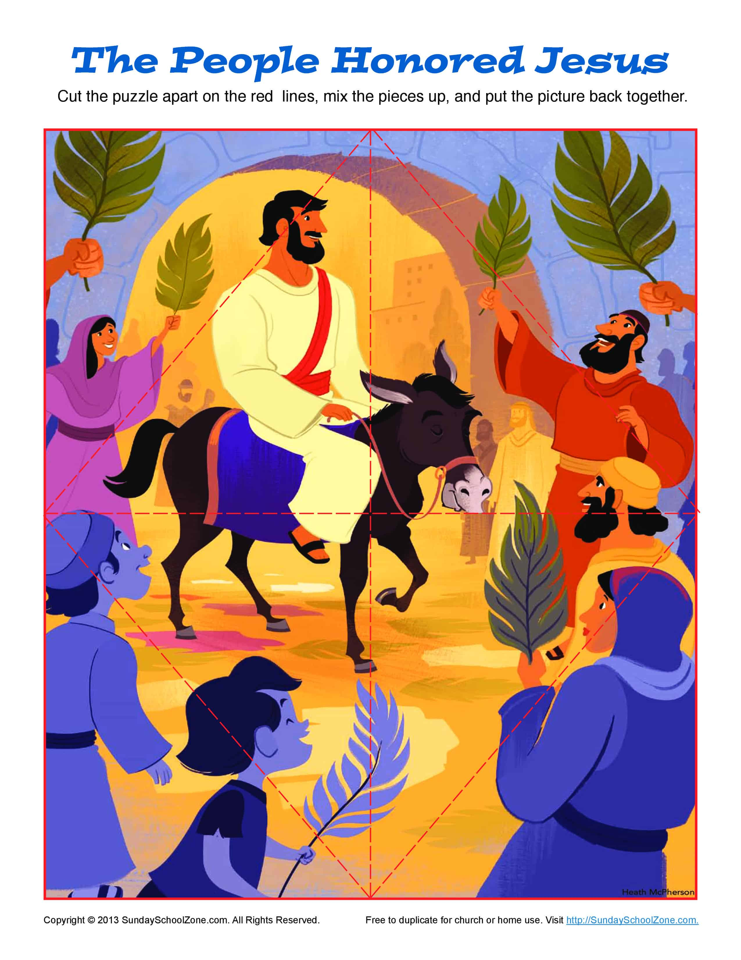 Printable Palm Sunday Jigsaw Puzzle