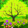 God Made the Plants—Bible Story Teaching Picture