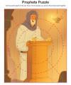Children's Bible Puzzle Activity About the Prophets