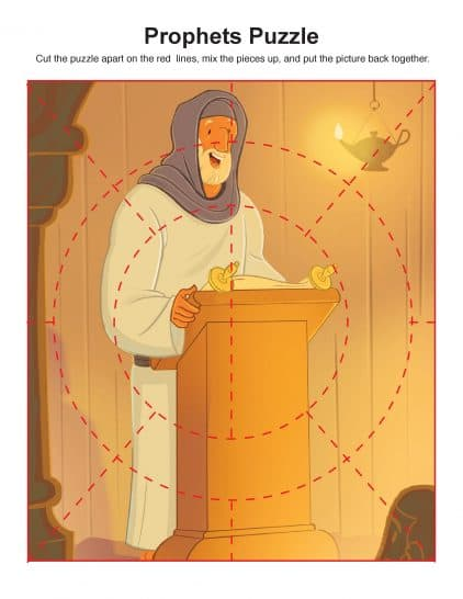 Children's Bible Puzzle Activity About the Prophets